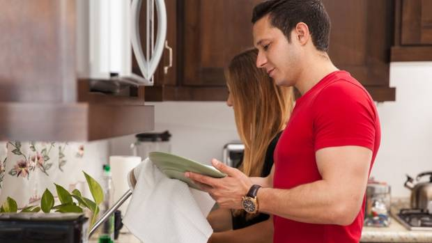 You don't have to do all the housework - but make sure to notice if your partner is doing more than you.