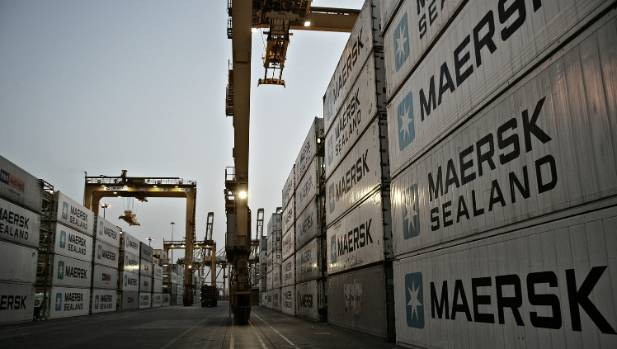 Maersk containers are due to arrive at Port of Auckland on Friday.