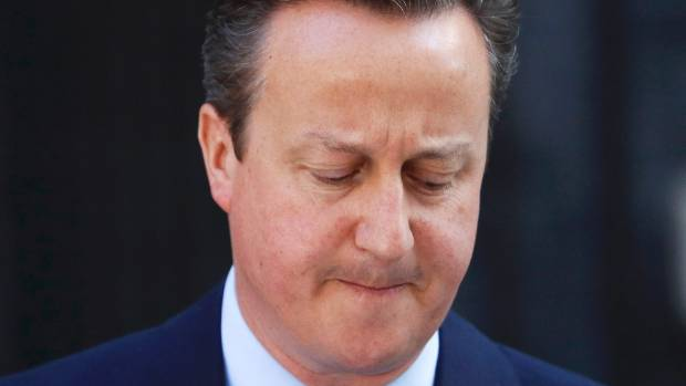Britain's Prime Minister David Cameron says he'll step down by October.