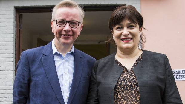 Justice Secretary and prominent 'Vote Leave' campaigner Michael Gove,with his wife Sarah Vine. Gove could be a contender ...