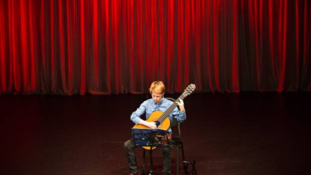 26062016 NEWS Photo CHARLOTTE CURD/ Fairfax Classical Guitar Society's mid year concert at the Wall Theatre. Hamish Goodhue.