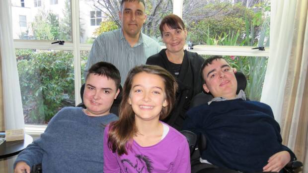 The Taylor family (at rear) Dad Steve and mum Sharyn with (from left, at front) Austin, 17, Lucy, 10, and Hamish, 20, ...