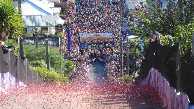 Cadbury sponsor the annual Jaffa Race in Dunedin
