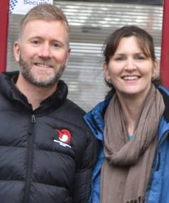 From left, Counties Manukau Sport community sport advisor Brendan Boreham and Bike On NZ Auckland regional project ...