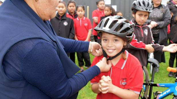 Roscommon School student Kataana Brown, 9, can't wait to give bike riding a go.