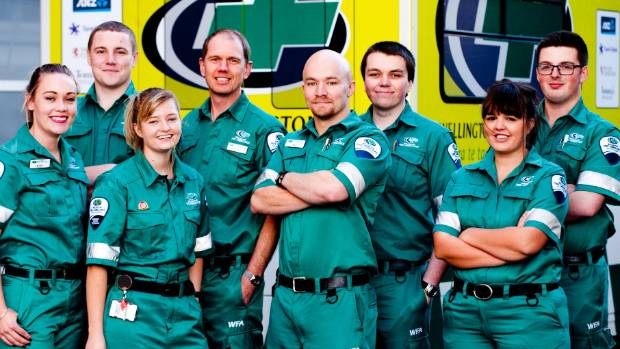 The paramedics of Street Hospital, a show which follows the work Wellington Free Ambulance workers do at night in ...