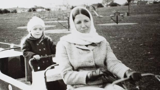 Mary Catherall with daughter Sarah at Fantasyland.