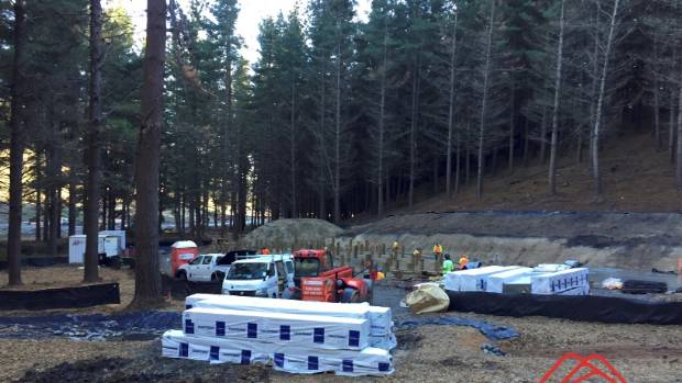 Work progresses on the Christchurch Adventure Park village nestled at the base of Port Hills between Dyers Pass, ...