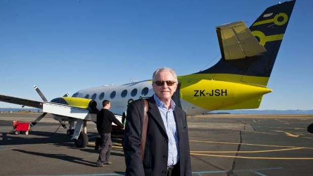 Originair managing director Robert Inglis in front of the Jetstream aircraft at Nelson Airport before the first flight ...