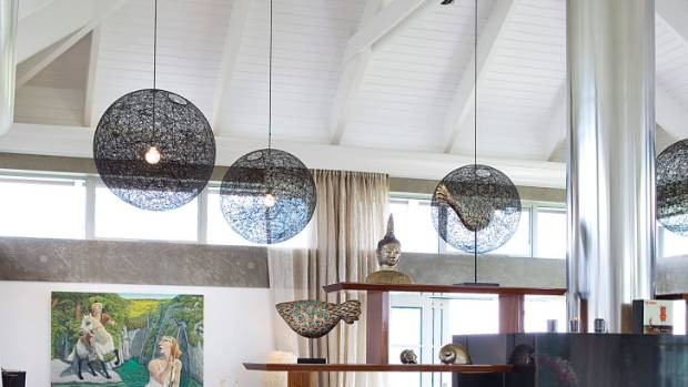 A higher ceiling allows you to use more pendants with larger volume