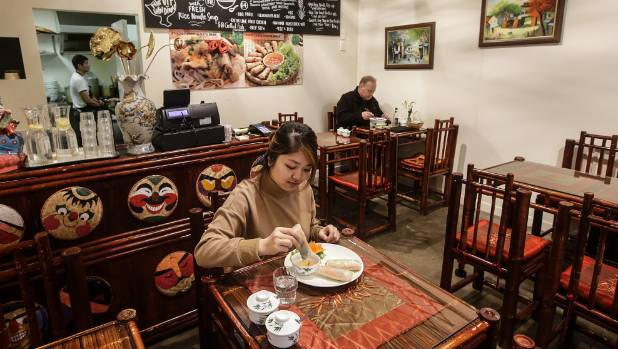 The decor in Thanh Giong Pho speaks of a different age in Vietnam's history.