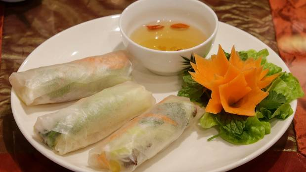 Summer rolls, best with pork and pineapple.