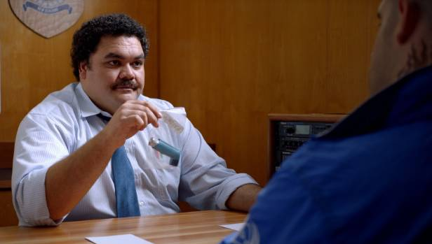 Josh Thomson in the role of Detective McMurray in TVNZ's new OnDemand series Terry Teo which is based on the 80s NZ ...