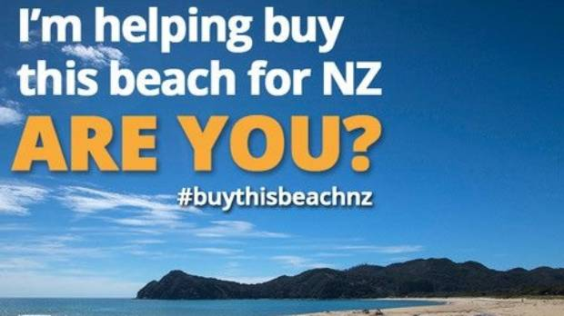 Stuff campaigned to #BuyThisBeachNZ