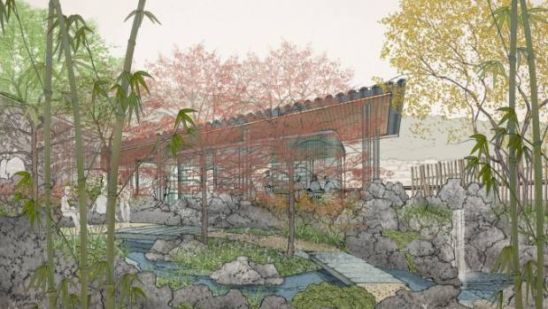 Images of the proposed Chinese Garden. Wellington Mayor Justin Lester said the garden was not likely to happen in the ...