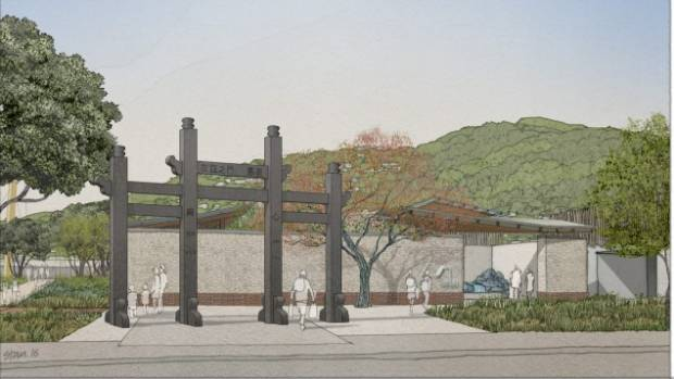 A traditional Pai Lau archway is included in the designs.