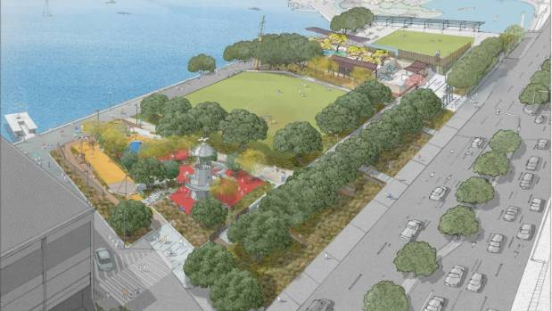 The proposed revamp of Frank Kitts Park, which includes a Chinese garden.