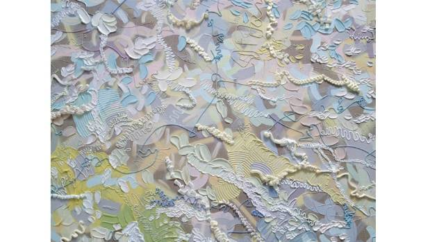 A detail from an untitled 2015 work in the University of Auckland collection, by Claudia Jowitt.