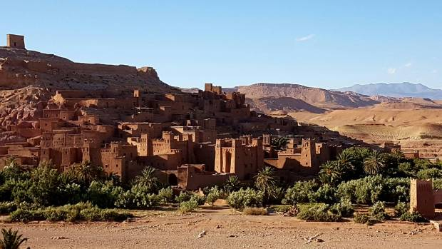 Ait Benhaddou is a fortified city, along a former caravan route between the Sahara and Marrakech. It was used for the ...