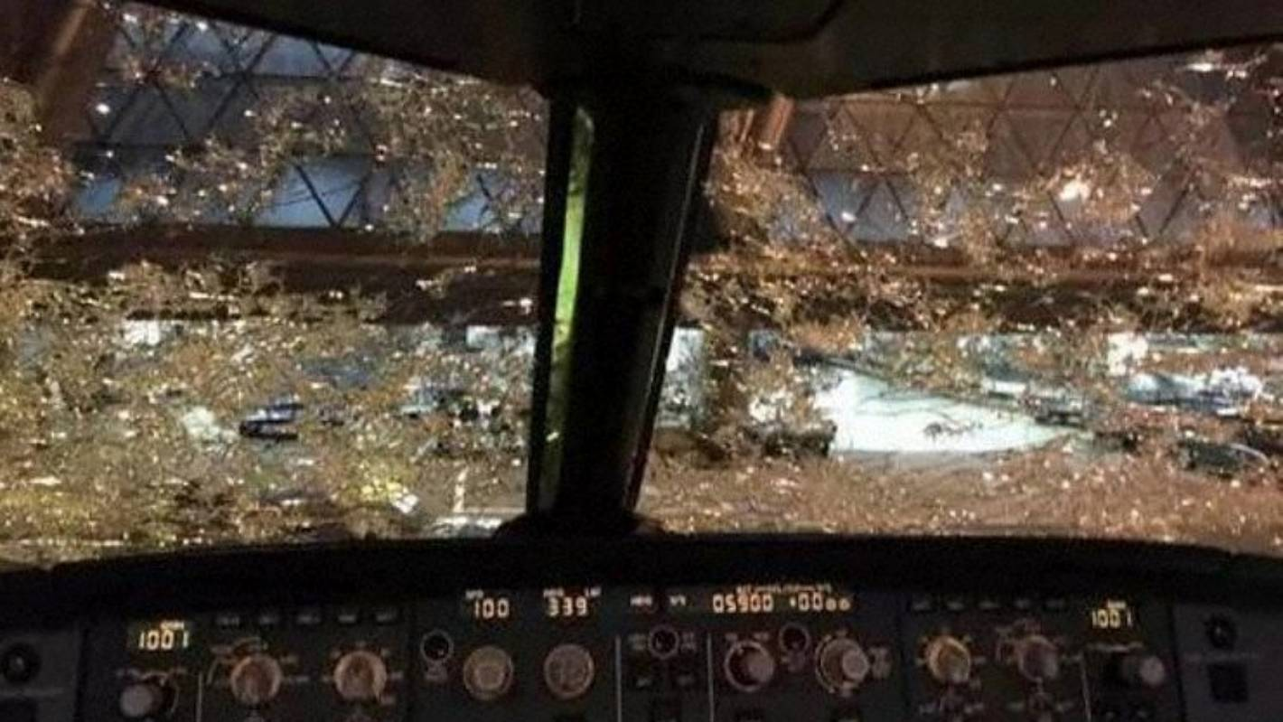 Hail Causes Severe Damage To China Southern Plane On