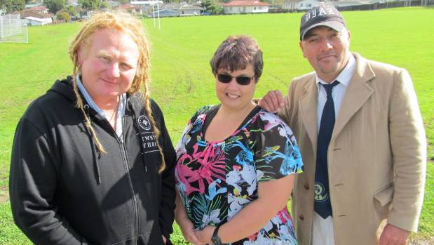 Working to make their community a better place to live are, from left, Dave Tims, Maree Beaven and Peter Diaz.