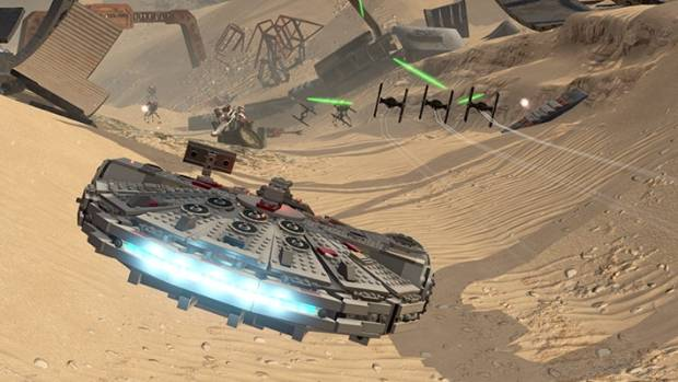 It may look cool, but once the novelty wears off, flying the Millennium Falcon is one of the game's least enjoyable sections.