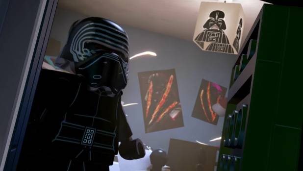 Getting a sneak peak inside the hilariously emo Kylo Ren's sleeping quarters reveals the lengths of his obsession with ...
