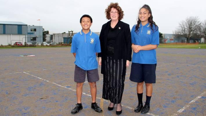 bruce mclaren's sister opens sports turf at school | stuff.co.nz