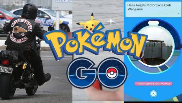 """Whanganui's Hells Angels headquarters is getting extra traffic as users show up searching for a """"pokestop""""."""