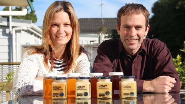 Vickie Wade, left, and Tony Melton are behind Urban Honey which won the supreme award at the Apiculture New Zealand 2016 ...
