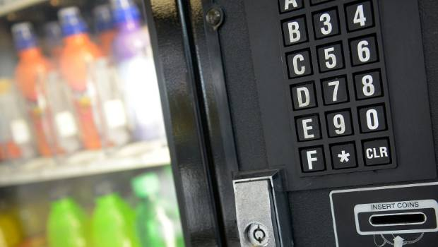 Shearer uses grinder to open vending machine after it fails to