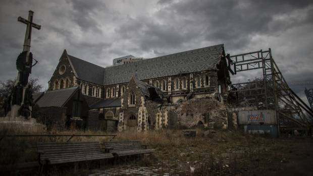 The Christ Church Cathedral has been sitting damaged in central Christchurch for over five years. Pigeons are roosting ...