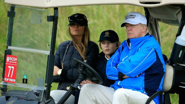 Players shift attention from Trump to golf