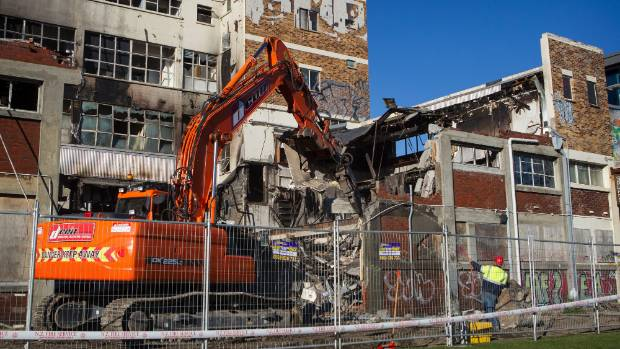 Eight Thoughts On The Christchurch Attack: One Of Christchurch's Sol Square Buildings Demolished