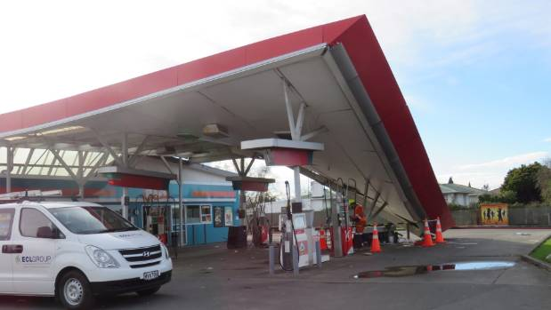 The service station attendant was metres from being hit by the car that careered through the & SUV careers through Masterton petrol station taking out pump and ...
