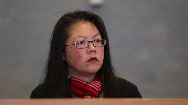 Cindy Taylor, pictured in the dock at the Auckland High Court.