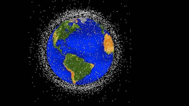 There's a whole lot of junk floating in space - one of the drawbacks of increased space exploration, Webby says..