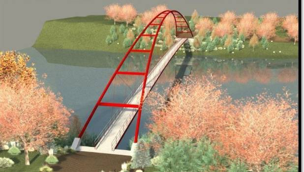 This is the concept design for the bridge that will connect Ngaruawahia and Horotiu as part of the Te Awa Great New ...