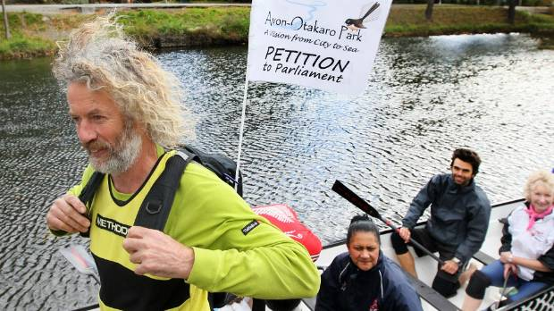 The Avon-Otakaro Network delivering its petition in 2012 calling for the red-zone to be made a park.
