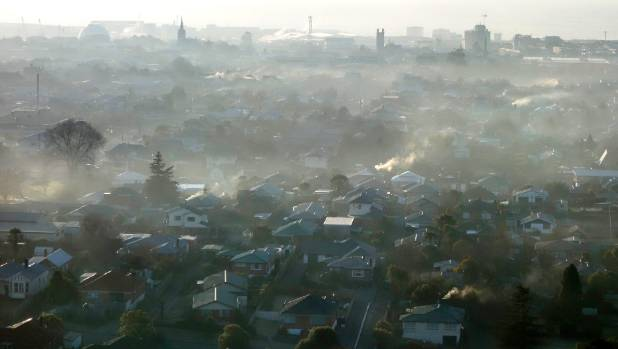 Smog over Timaru on a winter morning in 2015.