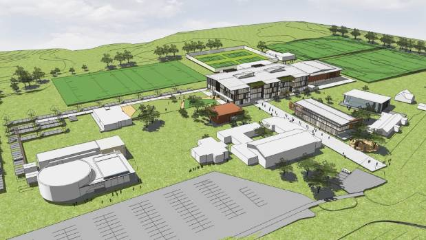 An artist's impression of the $79 million Western Springs College rebuild.