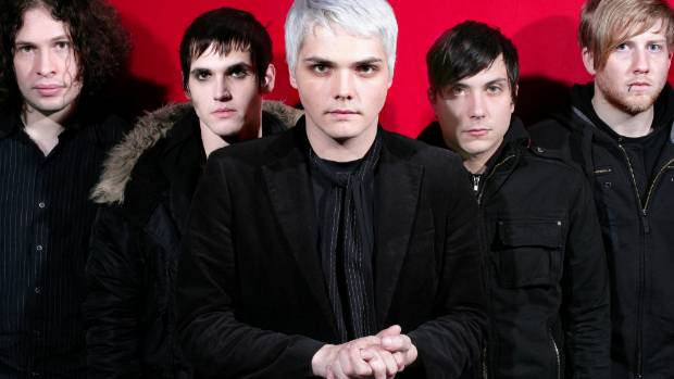 My Chemical Romance in the Black Parade garb.