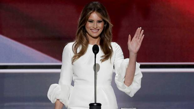 Former model Melania Trump, wife of Republican US presidential candidate Donald Trump, is originally from Slovenia.