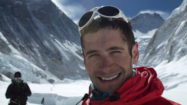 Dean Hall, pictured on Mount Everest. He was the 42nd New Zealander to reach the summit.