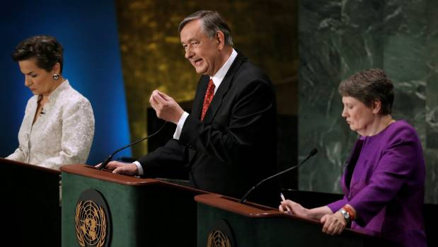 Former Slovenian President Danilo Turk speaks during a debate in the United Nations General Assembly in July between ...