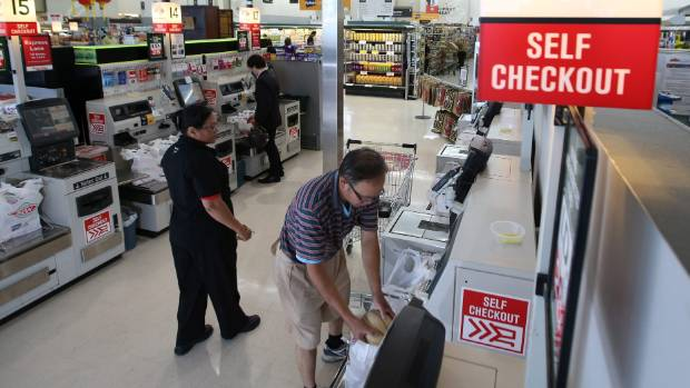 """Most people say a machine couldn't do their job, """"even checkout operators standing next to a self-checkout machine"""", ..."""