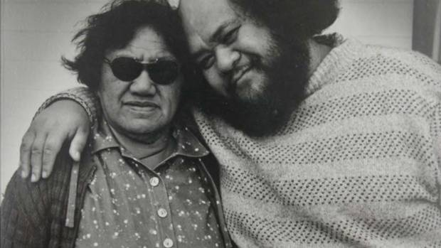 Poi E collaborators Ngoi Pewhairangi and Dalvanius Prime, photographed in 1982.