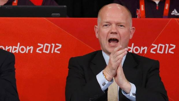 Former British Foreign Secretary William Hague.