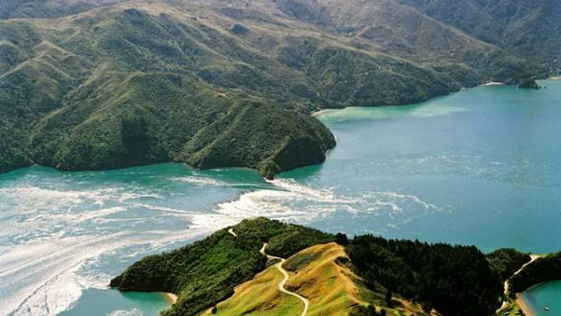 French Pass between the South Island and D'Urville Island is famed for its fast-running tides.