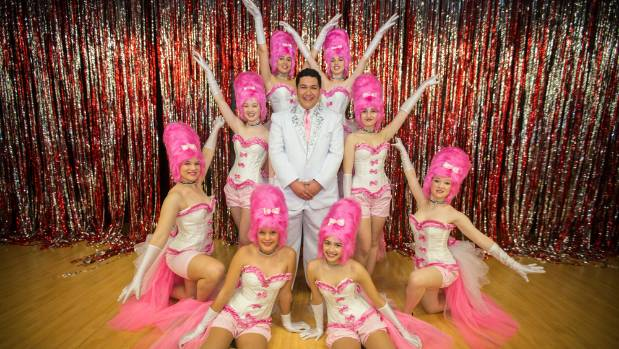 Beauty School Dropout performers (front) Sophie White and Aimee​ Stringer, (middle) Sophie Chaplow, Olivia Limmer, ...
